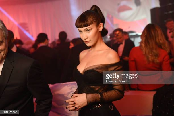 Bella Hadid attends Le Bal Surrealiste Dior during Haute Couture Spring Summer 2018 show as part of Paris Fashion Week on January 22 2018 in Paris...