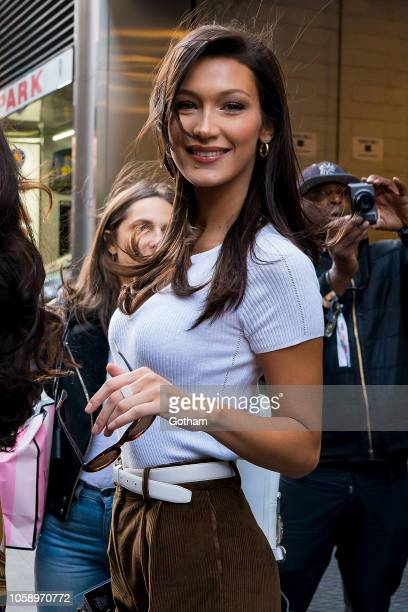 Bella Hadid attends rehearsals for the 2018 Victoria's Secret Fashion Show in Midtown on November 7 2018 in New York City