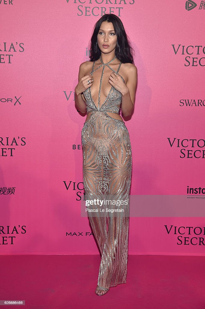 Bella Hadid attends the 2016 Victoria's Secret Fashion Show after party on November 30, 2016 in Paris, France.
