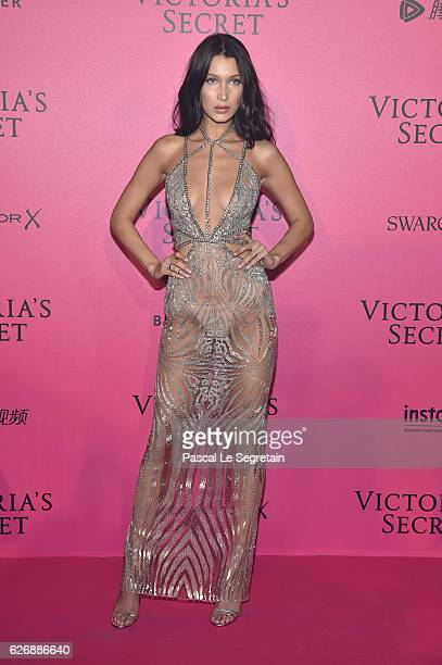 Bella Hadid attends the 2016 Victoria's Secret Fashion Show after party on November 30 2016 in Paris France