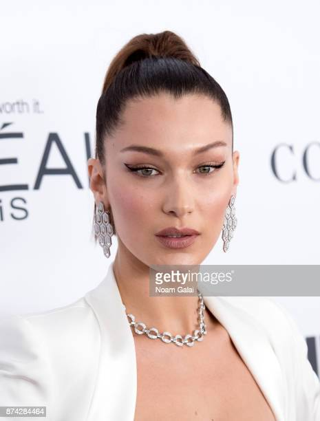Bella Hadid attends the 2017 Glamour Women of The Year Awards at Kings Theatre on November 13 2017 in New York City