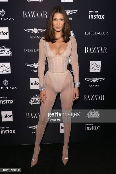 Bella Hadid attends the 2018 Harper's Bazaar ICONS Party at The Plaza Hotel on September 7 2018 in New York City