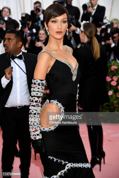 Bella Hadid attends The 2019 Met Gala Celebrating Camp: Notes on Fashion at Metropolitan Museum of Art on May 06, 2019 in New York City.