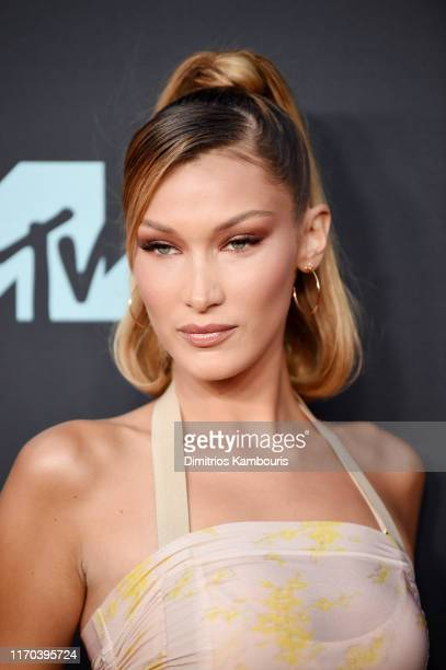 Bella Hadid attends the 2019 MTV Video Music Awards at Prudential Center on August 26, 2019 in Newark, New Jersey.