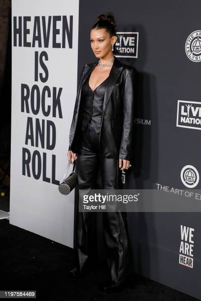 Bella Hadid attends The Art of Elysium's 13th Annual Heaven Gala at Hollywood Palladium on January 04, 2020 in Los Angeles, California.