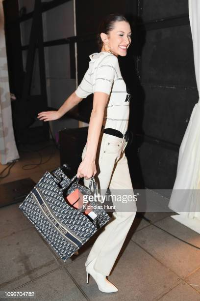 Bella Hadid attends the Brandon Maxwell front row during New York Fashion Week: The Shows at Penn Plaza Pavilion on February 9, 2019 in New York City.