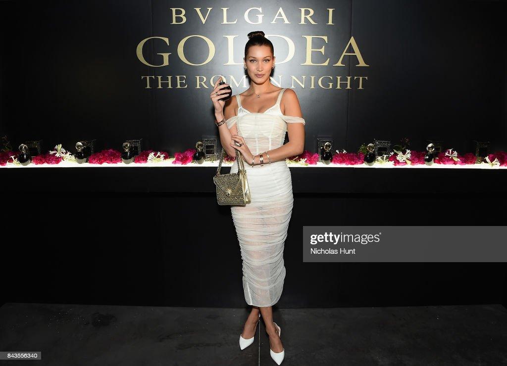 Bulgari Celebrates Launch Of New Fragrance 'Goldea, The Roman Night' : News Photo