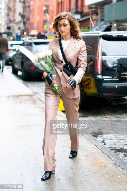 Bella Hadid attends the Carine Roitfeld Perfume PopUp in SoHo on May 05 2019 in New York City