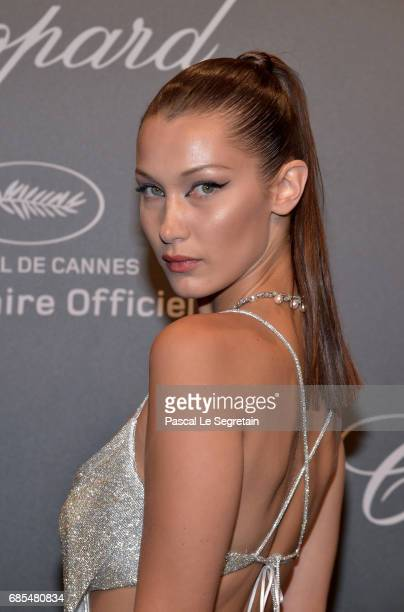 """Bella Hadid attends the Chopard """"SPACE Party"""" hosted by Chopard's copresident Caroline Scheufele and Rihanna at Port Canto on May 19 in Cannes France"""