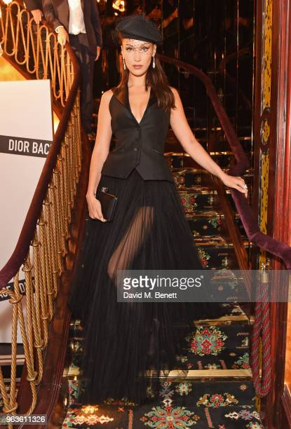 Bella Hadid attends the Dior Backstage launch party at Loulou's on May 29 2018 in London England