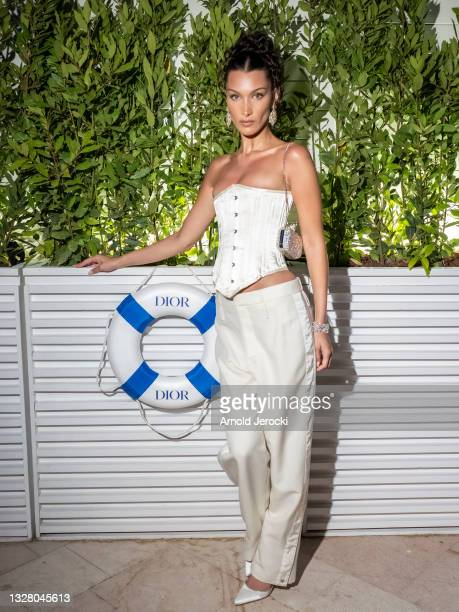 Bella Hadid attends the Dior dinner during the 74th annual Cannes Film Festival on July 10, 2021 in Cannes, France.