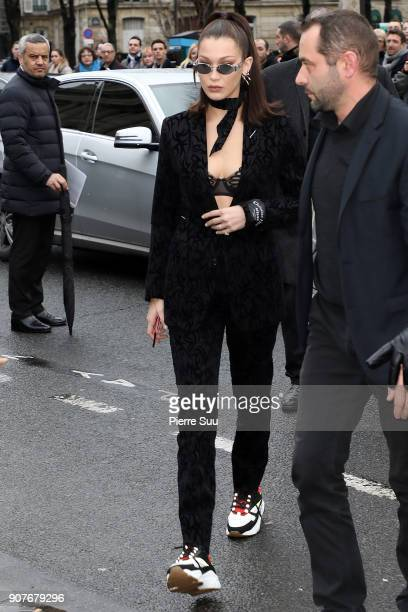 Bella Hadid attends the Dior Homme Menswear Fall/Winter 20182019 show as part of Paris Fashion Week on January 20 2018 in Paris France