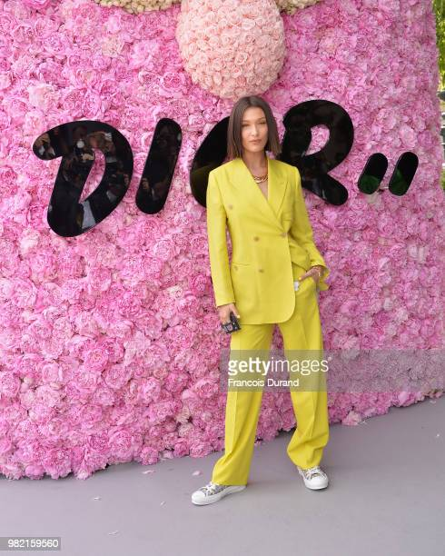 Bella Hadid attends the Dior Homme Menswear Spring/Summer 2019 show as part of Paris Fashion Week on June 23, 2018 in Paris, France.