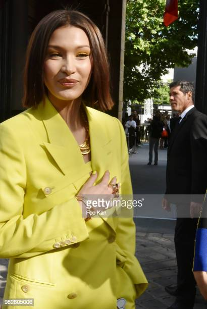 Bella Hadid attends the Dior Homme Menswear Spring/Summer 2019 show as part of Paris Fashion Week on June 23 2018 in Paris France