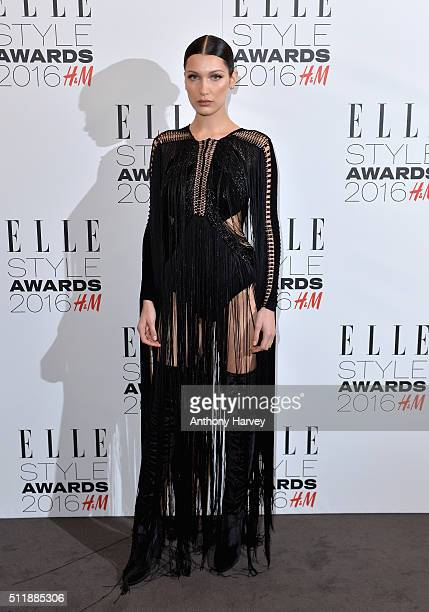 Bella Hadid attends The Elle Style Awards 2016 on February 23 2016 in London England