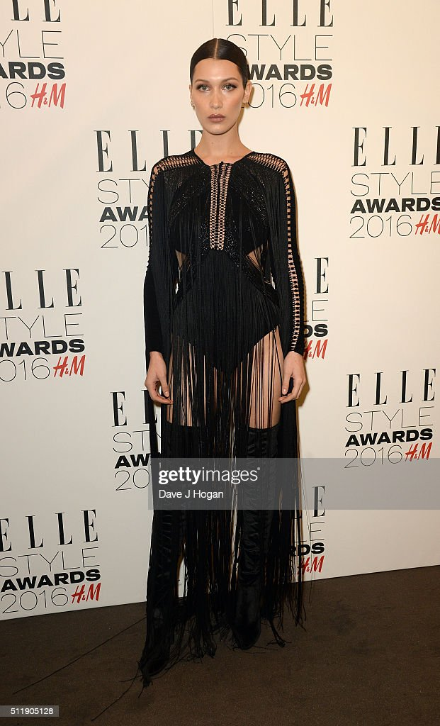 Bella Hadid attends The Elle Style Awards 2016 on February 23, 2016 in London, England.