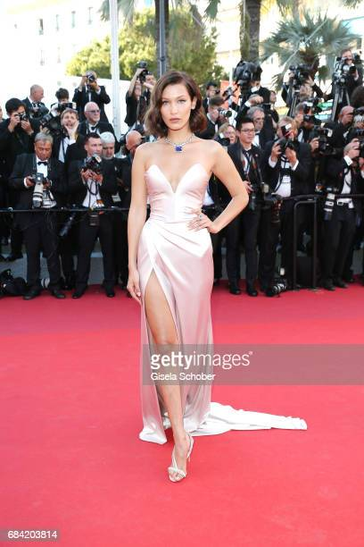 Bella Hadid attends the Ismael's Ghosts screening and Opening Gala during the 70th annual Cannes Film Festival at Palais des Festivals on May 17 2017...