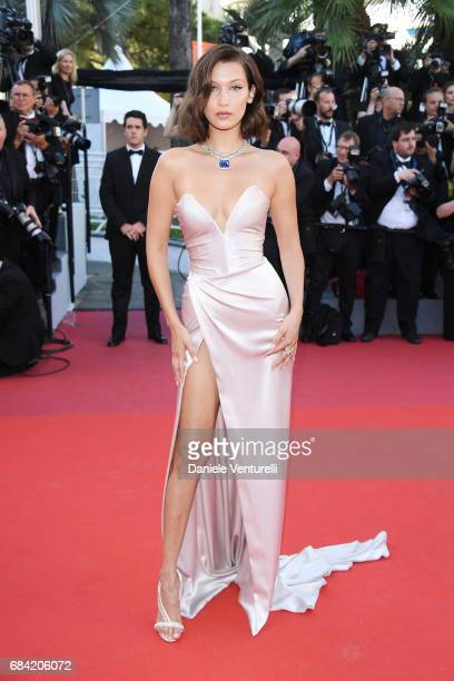 "Bella Hadid attends the ""Ismael's Ghosts "" screening and Opening Gala during the 70th annual Cannes Film Festival at Palais des Festivals on May 17,..."