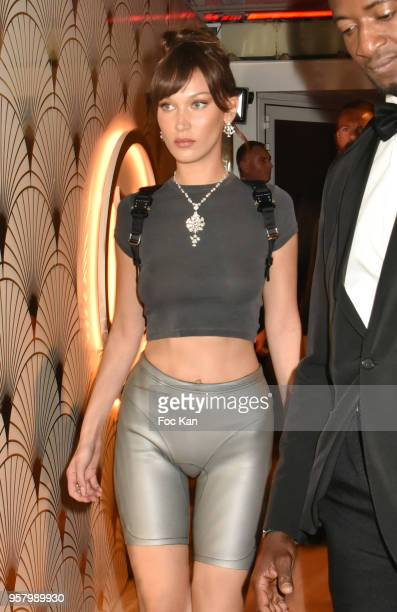 Bella Hadid attends the Le Monde Est A Toi Party during the 71st annual Cannes Film Festival at Magnum Beach on May 12 2018 in Cannes France