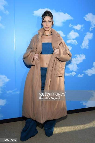 Bella Hadid attends the Louis Vuitton Menswear Fall/Winter 2020-2021 show as part of Paris Fashion Week on January 16, 2020 in Paris, France.