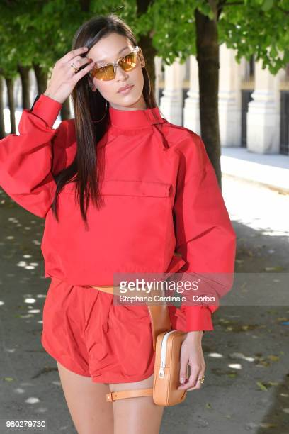 Bella Hadid Attends the Louis Vuitton Menswear Spring/Summer 2019 show as part of Paris Fashion Week Week on June 21 2018 in Paris France
