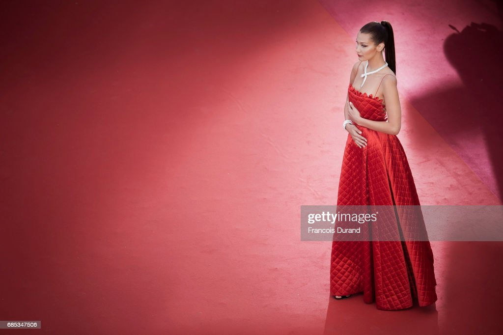 Bella Hadid attends the 'Okja' screening during the 70th annual Cannes Film Festival at Palais des Festivals on May 19, 2017 in Cannes, France.