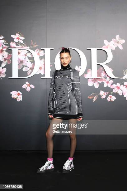 Bella Hadid attends the photocall at the Dior Pre Fall 2019 Men's Collection on November 30 2018 in Tokyo Japan