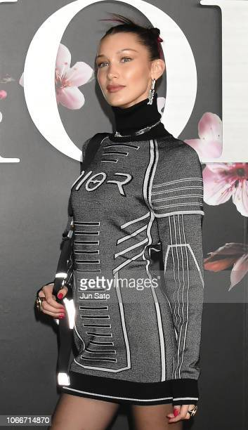Bella Hadid attends the photocall for Dior PreFall 2019 Men's Collection at Telecom Center on November 30 2018 in Tokyo Japan