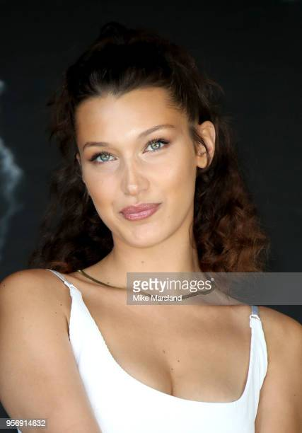 Bella Hadid attends the photocall for Magnum during the 71st annual Cannes Film Festival on May 10 2018 in Cannes France