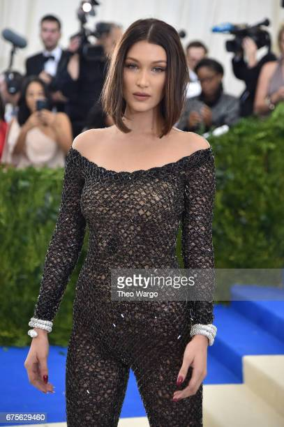 Bella Hadid attends the 'Rei Kawakubo/Comme des Garcons Art Of The InBetween' Costume Institute Gala at Metropolitan Museum of Art on May 1 2017 in...