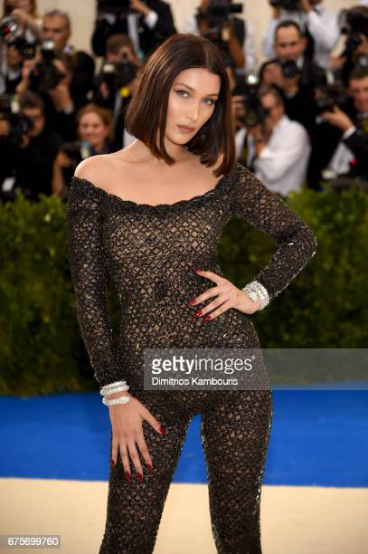 Bella Hadid attends the Rei Kawakubo/Comme des Garcons Art Of The InBetween Costume Institute Gala at Metropolitan Museum of Art on May 1 2017 in New...