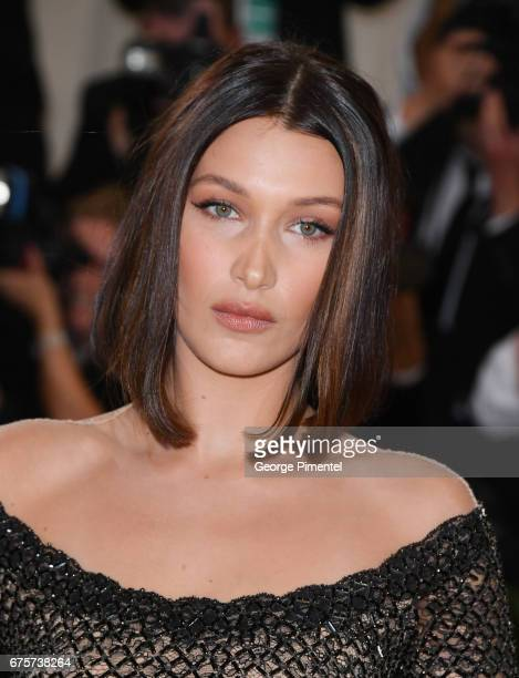 Bella Hadid attends the 'Rei Kawakubo/Comme des Garcons: Art Of The In-Between' Costume Institute Gala at Metropolitan Museum of Art on May 1, 2017...