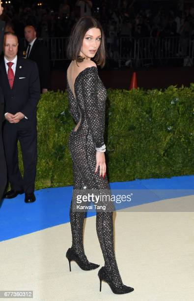Bella Hadid attends the 'Rei Kawakubo/Comme des Garcons Art Of The InBetween' Costume Institute Gala at the Metropolitan Museum of Art on May 1 2017...