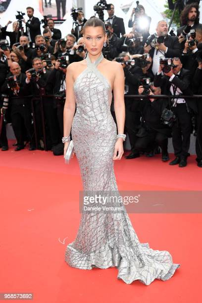 Bella Hadid attends the screening of BlacKkKlansman during the 71st annual Cannes Film Festival at Palais des Festivals on May 14 2018 in Cannes...