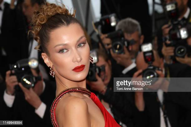Bella Hadid attends the screening of Pain And Glory during the 72nd annual Cannes Film Festival on May 17 2019 in Cannes France