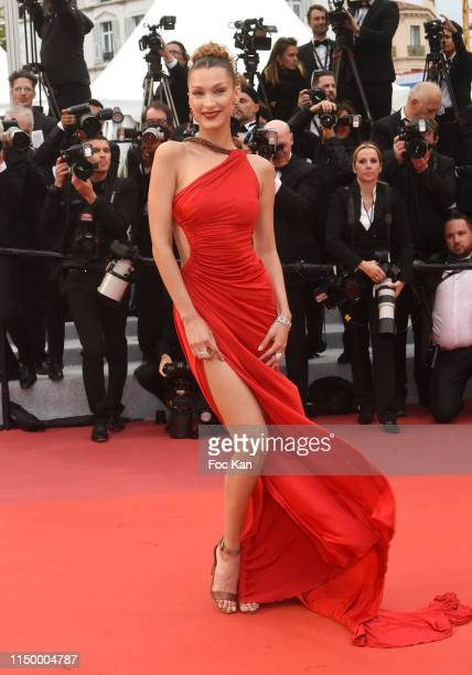 """Bella Hadid attends the screening of """"Pain And Glory """" during the 72nd annual Cannes Film Festival on May 17, 2019 in Cannes, France. Photo by Foc..."""