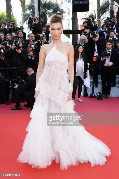 """Bella Hadid attends the screening of """"Rocketman"""" during the 72nd annual Cannes Film Festival on May 16, 2019 in Cannes, France."""