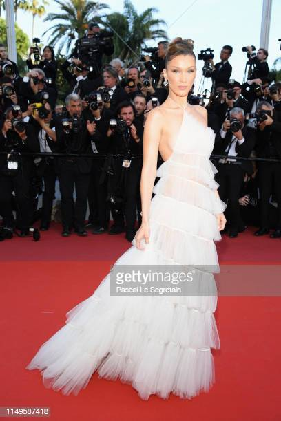"Bella Hadid attends the screening of ""Rocketman"" during the 72nd annual Cannes Film Festival on May 16, 2019 in Cannes, France."