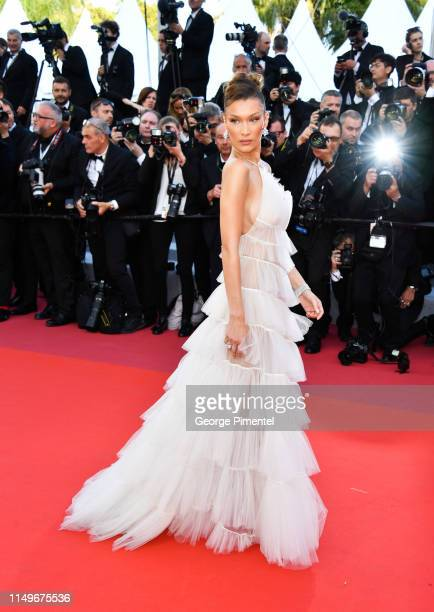 Bella Hadid attends the screening of Rocketman during the 72nd annual Cannes Film Festival on May 16 2019 in Cannes France