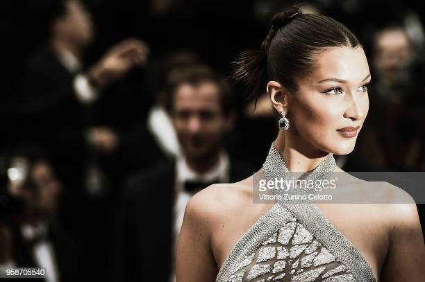Bella Hadid attends the screening of the film 'BlacKkKlansman' during the 71st annual Cannes Film Festival on May 14 2018 in Cannes France