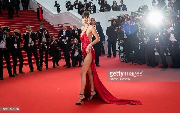 "Bella Hadid attends the screening of ""The Unkown Girl "" at the annual 69th Cannes Film Festival at Palais des Festivals on May 18, 2016 in Cannes,..."
