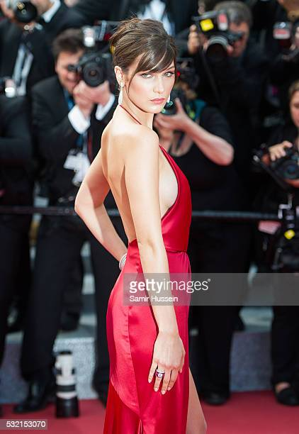 """Bella Hadid attends the screening of """"The Unkown Girl """" at the annual 69th Cannes Film Festival at Palais des Festivals on May 18, 2016 in Cannes,..."""