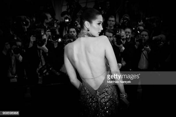 Bella Hadid attends the the screening of 'BlacKkKlansman' during the 71st annual Cannes Film Festival at on May 14 2018 in Cannes France