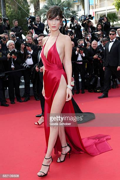 Bella Hadid attends The Unknown Girl Premiere during the 69th annual Cannes Film Festival at the Palais des Festivals on May 18 2016 in Cannes France