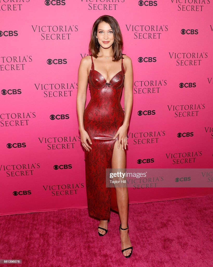 Bella Hadid attends the Victoria's Secret Viewing Party Pink Carpet celebrating the 2017 Victoria's Secret Fashion Show in Shanghai at Spring Studios on November 28, 2017 in New York City.