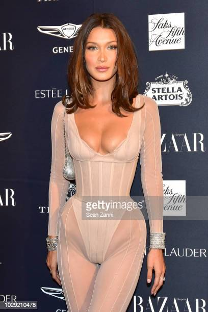 Bella Hadid attends The Worldwide Editors Of Harper's Bazaar Celebrate ICONS by Carine Roitfeld presented by Infor Stella Artois FUJIFILM Estee...