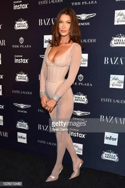 Bella Hadid attends The Worldwide Editors Of Harper's Bazaar Celebrate ICONS by Carine Roitfeld presented by Infor Stella Artois FUJIFILM Estee...