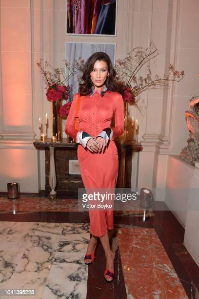 Bella Hadid attends the YouTube cocktail party during Paris Fashion Week on September 26 2018 in Paris France