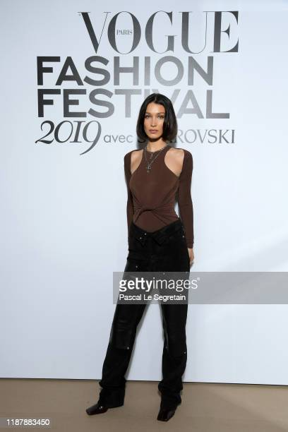 Bella Hadid attends Vogue Fashion Festival Photocall At Hotel Potocki In Paris on November 15, 2019 in Paris, France.