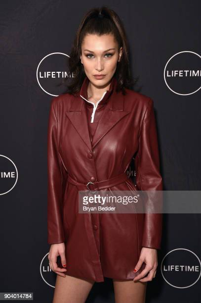Bella Hadid celebrates Yolanda Hadid's birthday and the premiere of her new Lifetime show 'Making A Model With Yolanda Hadid' with friends and family...